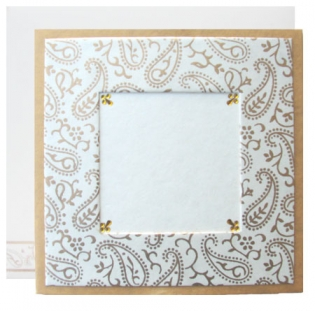 Cream Square Card With Photo Option