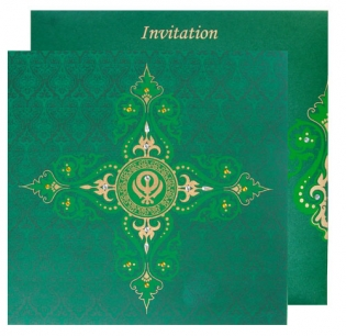 Green Card With Gold Design