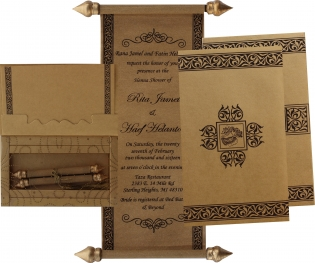 Scroll Wedding Cards Scroll Wedding Invitations